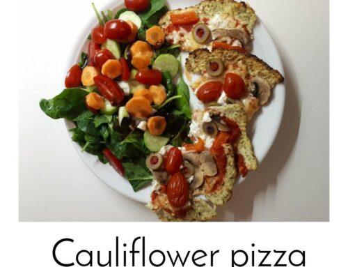 Πίτσα με βάση από κουνουπίδι – Cauliflower pizza